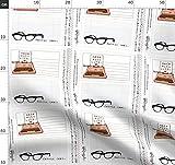 Quilt Label, Nerd, Brille, Schreibmaschine Stoffe -