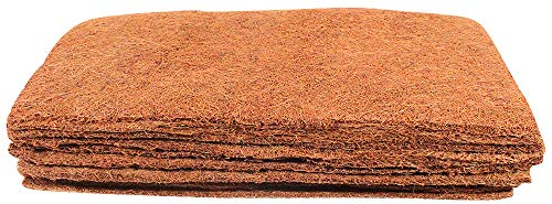 Envelor Coir Plant Cover Coconut Husk Planters Hydroponics Seed Starter Fiber Mulch, Coco Grow Mat 10 x 20 Inches Pack of 10