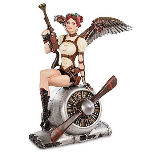 VERONESE Figura de Baratija Decorativa, Adecuado para El Hogar, Casa, Oficina, Habitación y Salón Decoración, Sitting on a Propeller Motor
