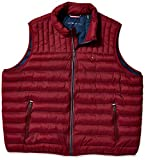 Tommy Hilfiger Men's Ultra Loft Quilted Puffer Vest, red, Medium