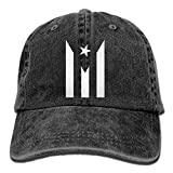 Jopath Hombres Mujeres Puerto Rico Resiste Boricua Bandera Se Levanta Denim Tela Baseball Gorra Ajustable Trucker Gorra