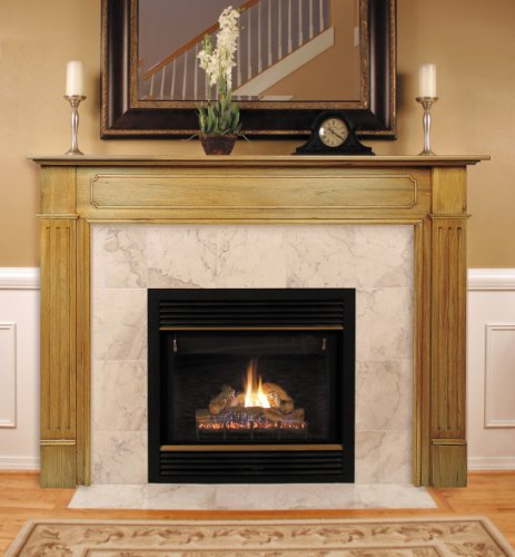 Pearl Mantels 110-48 Williamsburg Fireplace Mantel, 48-Inch, Unfinished