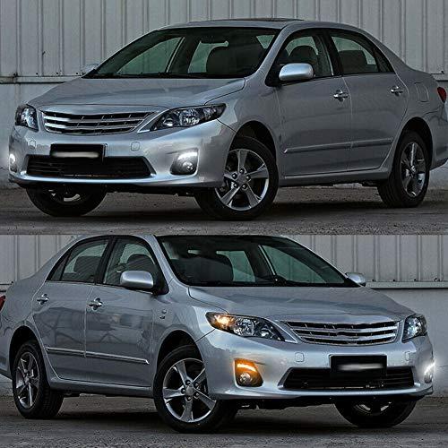 Daytime Running Light,Car LED DRL Daytime Running Light High Brightness Fit for Toyota Corolla Altis 2010-2013