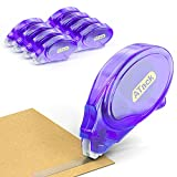 ATack Double Sided Tape Adhesive Runner Roller, 0.3-inch by 360-Inch, 8-Pack, Permanent Double-Sided Adhesive Tape Dispenser for Scrapbooking, Card Making and Crafts   Acid-Free and Archival-Safe