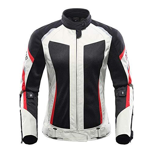 JIAOJIAO Giacca da Moto Abbigliamento da Equitazione Protettivo Estivo Pantaloni Giacca da Giacca da Traspirante Mesh Touring Set di da Donna Uomo