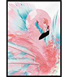 Papierschmiede Motiv-Poster Flamingo Abstrakt | DIN A4 |