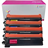YiChuang 4PACK Compatible TN210 Toner Cartridge Combo Pack Replacement for Brother TN210BK TN210C TN210M TN210Y HL-3040 CN HL-3070 MFC-9010 MFC-9120 MFC-9320 MFC-9320 (High Yield, BK C M Y, 4-Pack)