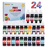 Food Coloring - 24 Color Rainbow Fondant Cake Food Coloring Set for Baking,Decorating,Icing and Cooking - neon Liquid...