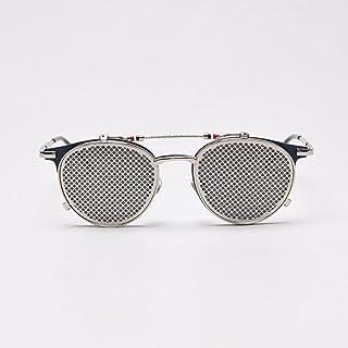 QWKLNRA - Gafas De Sol para Hombre Gafas De Sol Retro Polarizadas contra Los Rayos UV Azules Y Negras con Malla Abatible Tonos Steampunk De Metal Vintage Uv400 Ciclismo Viajes Pesca Gafas De Sol Al Ai