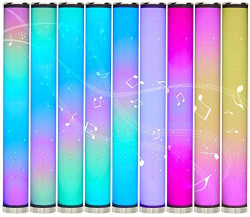 Northpoint LED Lichtsäule Stehlampe mit Sternenmuster 100cm Digitale LEDs mit flüssigen Farbübergängen dimmbar Farbwechsel mit Fernbedienung integrierter Soundsensor