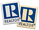 Small Realtor Logo Branded Lapel Pin with Military Clutch Pin Back (Gold & Silver 2 Pack)