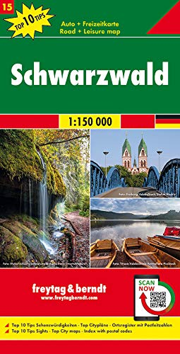 Schwarzwald, Autokarte 1:150.000, Top 10 Tips, Blatt 15 (freytag & berndt Auto + Freizeitkarten)