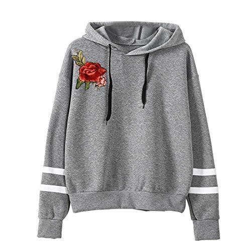 Damen Hoodie Sweatshirts Lässige Langarm T-Shirts Kordelzug Kapuzenpullover Bequeme...