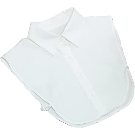 Merssavo Moda Blanca Mujer Camisa Extraíble Artificial Cuello Collar Desmontable Falso