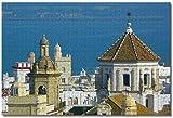 MX-XXUOUO Rompecabezas de 1000 Piezas, Casco Antiguo de España, Cádiz