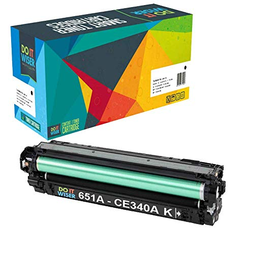 Do it Wiser Compatible Toner Cartridge Replacement for HP 651A CE340A for use in HP Laserjet Enterprise 700 MFP M775 M775dn (Black)