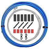 CTRICALVER - Cable de freno para bicicleta de montaña, juego de cables de freno de bicicleta de montaña, cables de freno universales para MTB/bicicleta de carretera (azul)