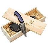Forseti Steel Azure Dragon Damascus Steel Knife