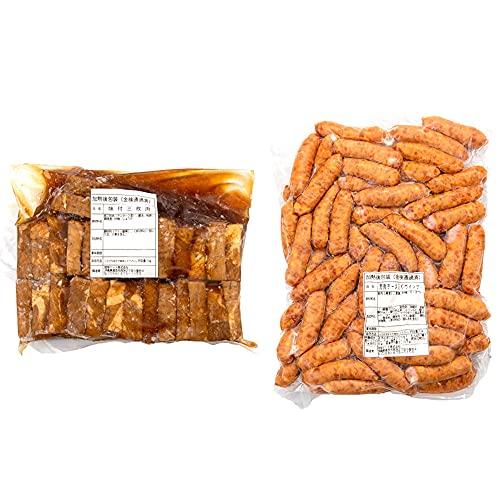 味付三枚肉 & 荒挽チーズ入りウインナー 1kg×各1P 琉球ミート 沖縄の伝統的な豚肉料理の代表 ラフテー