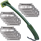 BRO SHAVER Gorilla Warfare: Special Forces Edition Back Hair Removal and Body Shaver, (Extra Razors Included)