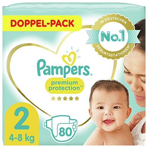 Pampers Größe 2 Premium Protection Baby Windeln, 80 Stück, Weichster Komfort Und Schutz (4-8kg)
