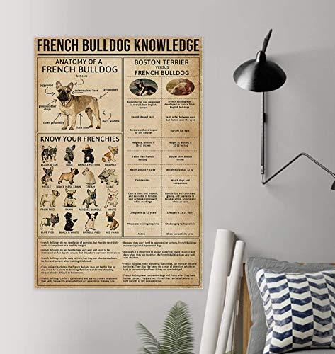 hardoinstephane Knowledge French Bulldog Poster