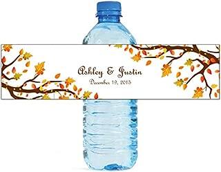 DesignThatSign 100 Autumn Trees Wedding Anniversary Engagement Party Water Bottle Labels Bridal Shower Birthday