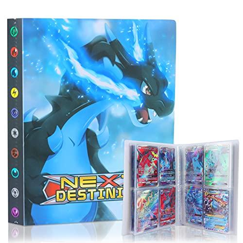 Álbum de Pokemon Album Pokemon, GUBOOM Álbum Titular de Tarjetas Cards, Álbum de Pokemon, Tarjetero Pokémon, Álbum Titular de Tarjetas Pokémon, Protector Cartas Pokemon,30 Páginas hasta 240 Tarjetas