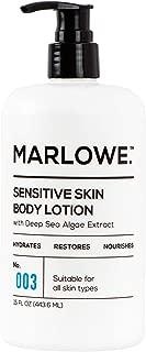 MARLOWE. No. 003 Sensitive Skin Body Lotion 15 oz | Moisturizing, Fragrance-Free, Natural Lotion for Dry Skin