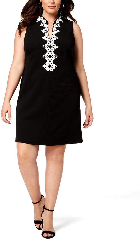 JessicaHoward Womens Plus Short Sleeveless Cocktail Dress