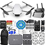 DJI Mavic Mini Fly More Combo with 12MP/2.7K Quad HD 3-Axis Gimbal Camera 3 Battery (Total) Action Bundle Includes: 32GB MicroSD Card, Sling Backpack, Landing Pad, Drone Vest + Much More