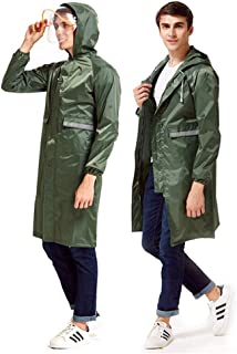RYY Raincoats Long Rainwear, Single Adult, Poncho Rainwear,Full Body Raincoat,Outdoor Work Hiking,Five Color (Color : Army...