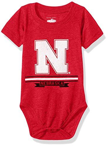 NCAA Cotton Willy Infant Short Sleeve Creeper Nebraska Cornhuskers, team Color, 6M
