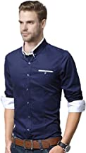 LookMark Men's Plain Regular fit Casual Shirt