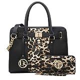 Women Handbags Satchel Bag Ladies Purse Shouler Bag with Wallet 7103Leopard
