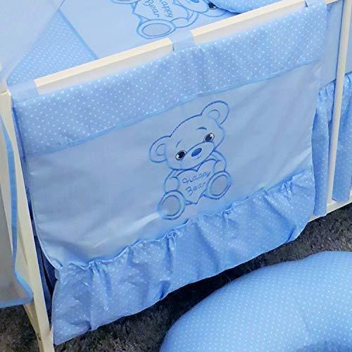 Chambre d'enfant pour lit de bébé du Rangement/organiseur – 60 x 60 cm – Ours Bleu