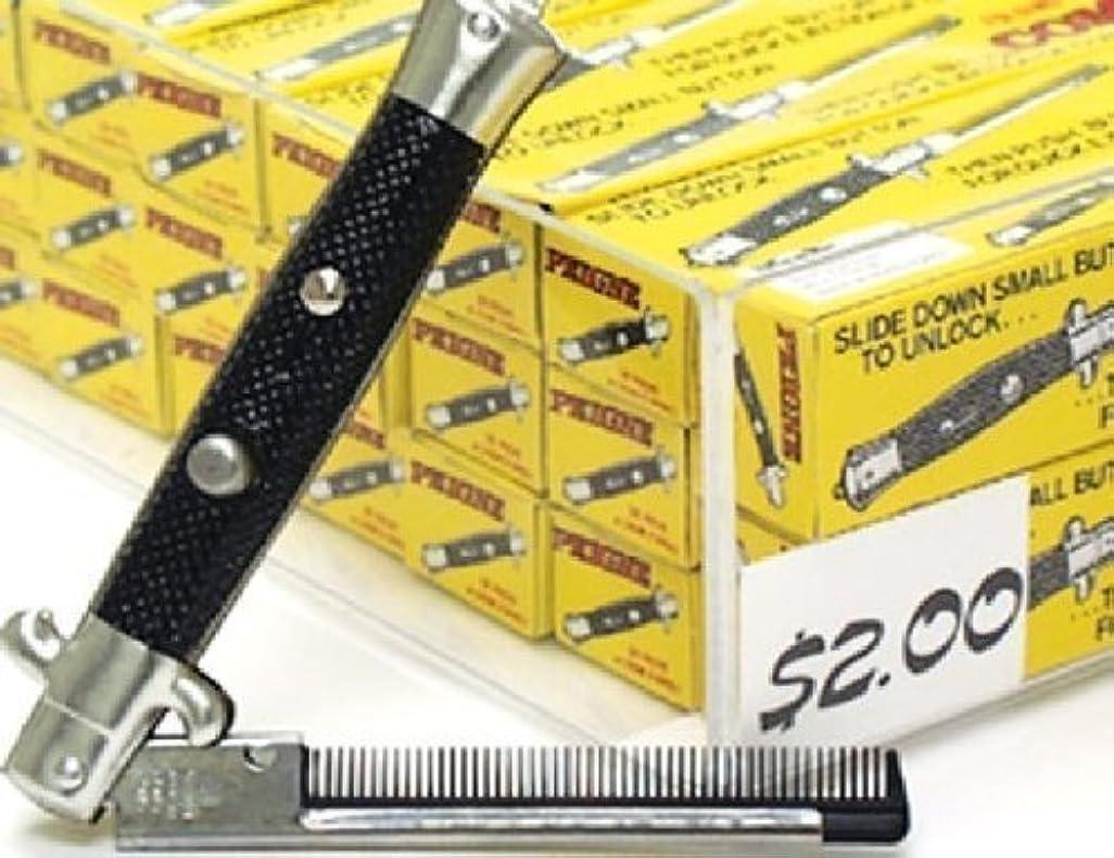 識別粘性の誠実One Dozen Switchblade Comb [並行輸入品]