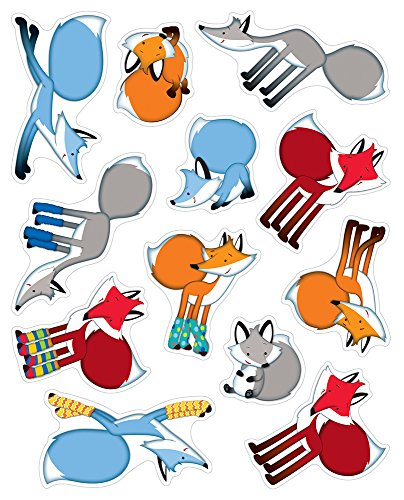 Playful Foxes Shape Stickers