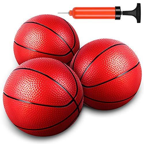 Mini pelota de baloncesto para niños, 3 unidades, juguete de baloncesto para niños pequeños / niños – perfecto reemplazo de baloncesto