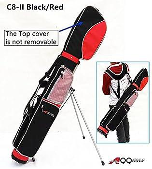 C8-II Golf Practice Range/Sunday/Stand/Pencil/Carry Bag  Black/red