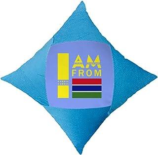 OFFbb-USA I Am from Gambia - Funda de almohada decorativa para cama de coche, color azul