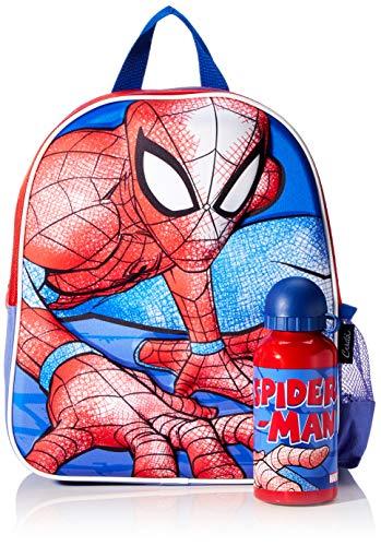 Cerdá  Mochila con Botella de Agua Infantil de Spiderman Licencia Oficial Marvel Studios