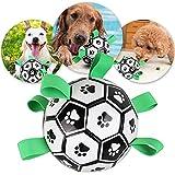 PPuujia Juguete de fútbol interactivo para perro, de 15 cm, resistente a la mordedura de gato, producto para cachorros, accesorios de entrenamiento para perros al aire libre, color blanco