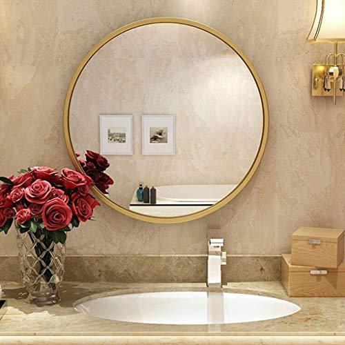 YXB wandspiegel met metalen frame, moderne ruimtedecoratie voor opritten Washrooms woonkamer en meer goud J4/6