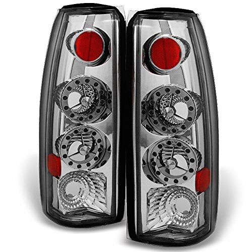 For Chevy C/K 1500 Models & C10 GMC Sierra Yukon Pickup Truck LED Chrome Tail Light Relacement Pair Set