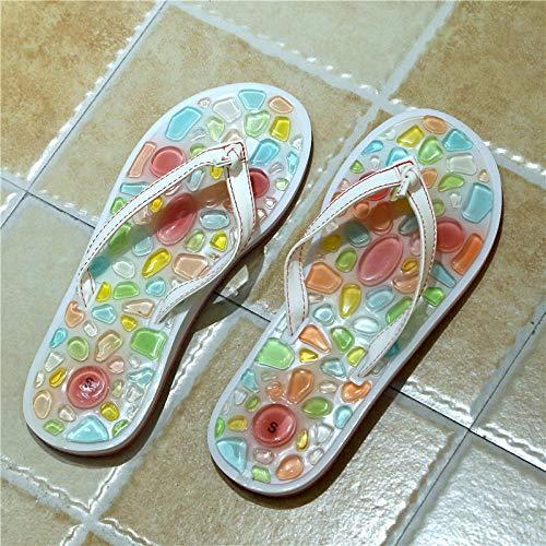 LNLJ Sandalias de tacón alto y zapatillas, chanclas de diamantes de imitación, zapatos de tacón de aguja de moda de punta abierta para mujeres-Dorado_34