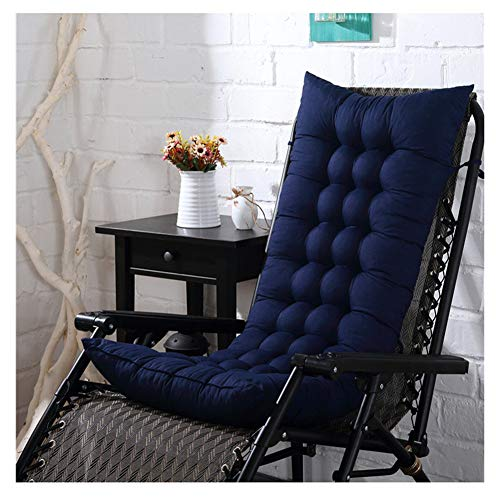 HotYou Cojín de Asiento Gruesa para Silla, Sofa, Sillon o Tumbona de jardín, terraza para Exterior,Azul Oscuro,48 * 125 CM