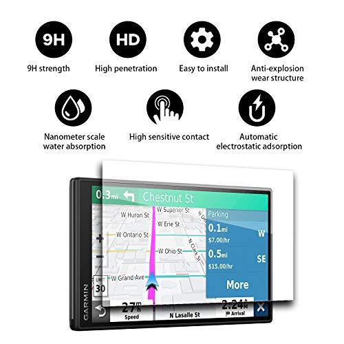 YEE PIN DriveSmart 55 Screen Protector & Traffic GPS Navigator 5.55' Display Glass Screen Protector for DriveSmart 55 5.5 Inch Touch Screen Protector Automatic Adsorption Scratch Resistance
