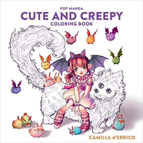 Pop Manga Cute and Creepy Coloring Book product image