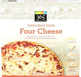 365 Everyday Value, Four Cheese Thin Crust Pizza, 12.5 oz, (Frozen)